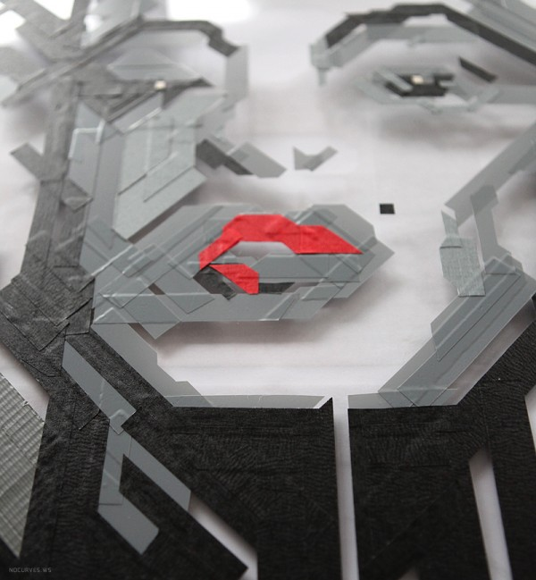 MARILYN MONROE - 50th anniversary tribute - Tape Art by NO CURVES