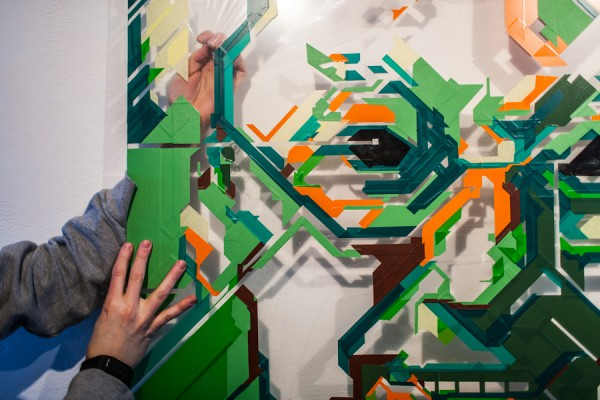 / tape art @Avantgarden Gallery (6)