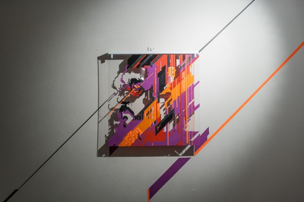 Top of the Lines / No Curves -tape art solo show @avantgardengallery milan - ph. Marco Montanari 2013 (14)