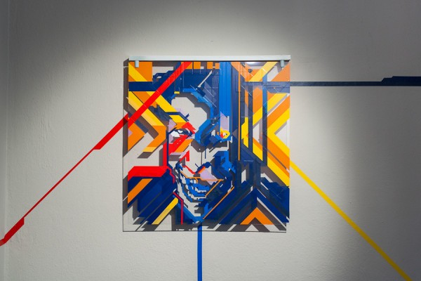 Top of the Lines / No Curves -tape art solo show @avantgardengallery milan - ph. Marco Montanari 2013 (15)