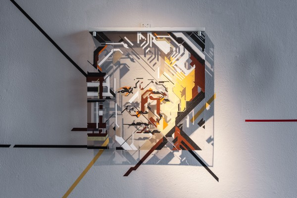 Top of the Lines / No Curves -tape art solo show @avantgardengallery milan - ph. Marco Montanari 2013 (19)