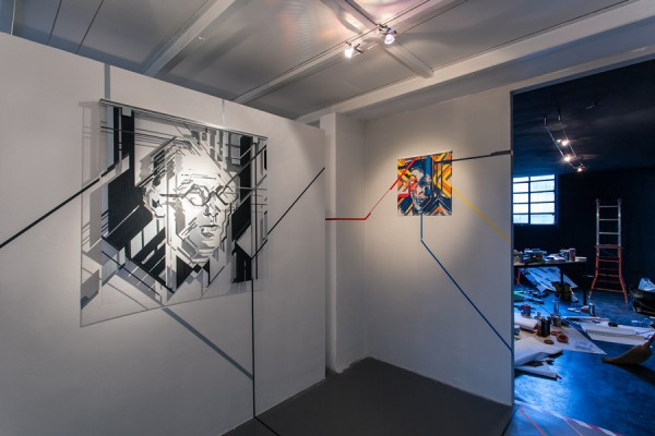 Top of the Lines / No Curves -tape art solo show @avantgardengallery milan - ph. Marco Montanari 2013 (5)
